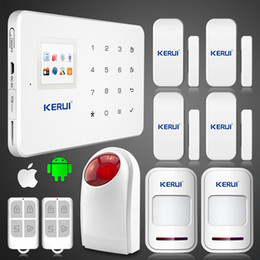 Wholesale gsm siren - LS111- KERUI G18 GSM SMS call Intelligent voice home house villa alarm system with loudly wireless flash outdoor siren alarm