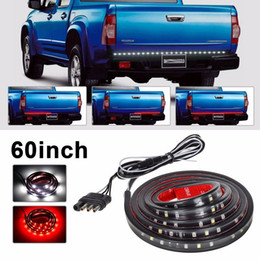Wholesale Ford Brakes - Waterproof 60 inch Red white LED Strip Light Bar Truck Reverse Brake Turn Signal Tail for Ford GMC Chevy Dodge Toyota Nissan(Pack of 2)