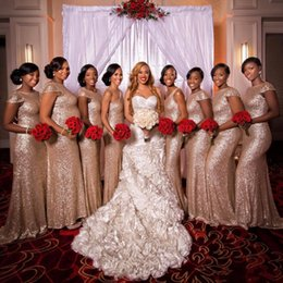 Wholesale Royal Blue Bridesmaid Bling Dress - bling blush Pink bridesmaids dresses paillettes plus size custom made maid of honor Bridesmaid wedding party dress