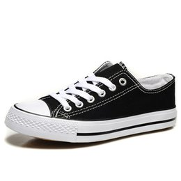 Wholesale Women Cloth Shoes - Breathable canvas shoes Korean version of the trendy couple students board shoes women off the flat cloth shoes cheap and limited time disco