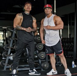 Wholesale Men S Khaki Vests - Wholesale- Muscle Guys New Brand gyms clothing Bodybuilding Fitness Men Tank Top Golds Gorilla shark Wear Vest Stringer sexy Undershirt