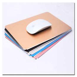 Wholesale Aluminum Mouse - Arc-edge Aluminum Metal Game Mouse Pad Computer Laptop Gaming Mousepad for Sc2 Wow Dota2 LOL Cs Play