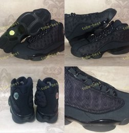 Wholesale Baseball Cat - New Retro 13 OG Black Cat Men Basketball Shoes 3M Reflect 13s Black Cat Athletics Sneakers High Quality Eur Size 40-47 us 7-13