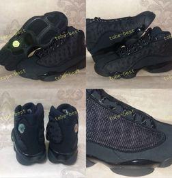 Wholesale High Cat Shoes - New Retro 13 OG Black Cat Men Basketball Shoes 3M Reflect 13s Black Cat Athletics Sneakers High Quality Eur Size 40-47 us 7-13