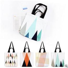 Wholesale Lighted Wholesale Halloween Buckets - Bags 2017 Fresh Canvas Cotton Handbags Tote Bags Eco Shopping Beach Bags Women Girl Shoulder Handbags 4 Colors DHL Free Shipping