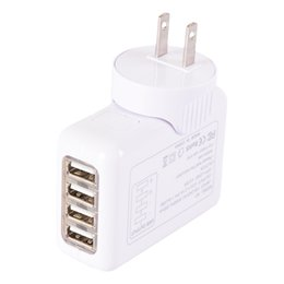 Wholesale Interface Travel - Universal 4USB interface conversion plug Travel US UK AU EU charger adapter plug wall coverter fast charging plug for mobile phone