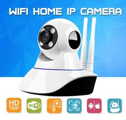 Wholesale Wifi Surveillance Monitor - Home Security Wireless Mini IP Camera Surveillance Camera Wifi 720P Night Vision CCTV Camera Baby Monitor With the Retail Box