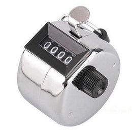 Wholesale Tally Clicker Digital - Stainless Digital Chrome Hand Held Tally Clicker Counter 4 Digit Number Clicker Golf Digital Chrome Hand Tally Clicker