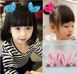 Wholesale Rabbit Hair Bracelet - Wholesale- 6137 elastic band bracelet summer style hair accessories girl headband clips gum cat ear rabbit bow bandana ornaments