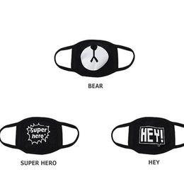 Wholesale Cute Black Bears - Black Anti-Dust Cotton Cute Bear Mouth Mask Kpop EXO Chanyeol Chan yeol