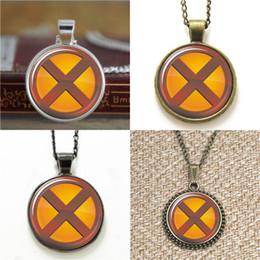 Wholesale Logo Fashion Earrings - 10pcs SX MEN Logo Fashion Comic Superhero Pendant Necklace keyring bookmark cufflink earring bracelet