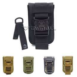 Wholesale Nylon Phone Pouch - Molle Tactical Waist Pack Shockproof Double Phone Pouch Wallet Card Hand Bag Hunting Pack