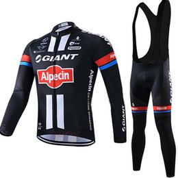 Wholesale Thermal Wear Clothes - Free Shipping 2017 GIANT cycling jersey bike pants set Winter thermal fleece cycling wear pro bike clothing