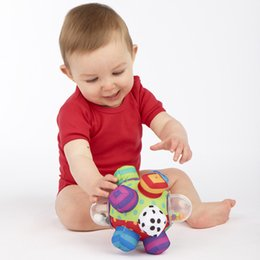 Wholesale Plush Baby Ball - Wholesale- Candice guo! Sassy baby toy plush grasping ball colorful multi-touch ball rattle birthday gift 1pc