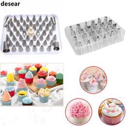 Wholesale bakery set - Wholesale- desear 24Pcs Icing Piping Nozzles Pastry Tips Cake Sugarcraft Decorating Bakery Tools