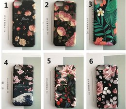 Wholesale Blue Floral Iphone Cases - Luxury Cute Cartoon Flowers Floral Plastic Hard Phone Cases Back Cover Coque Funda For iPhone 6 Case For iphone 6S 7 7 Plus Capa