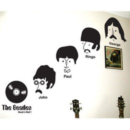 Wholesale N Shop - sticker baby Sale New Rock 'n Roll Music Wall Sticker The Beatles Home Wallpaper Famous Star Poster Vinyl Decal Living Room Bar Shop
