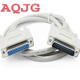 Wholesale Printer Computers - Wholesale- 25Pin DB25 Parallel Male to Female LPT Printer DB25 M-F Cable 1.5M computer cable Printerextending Cable 25-Pin 3M 5m10m AQJG