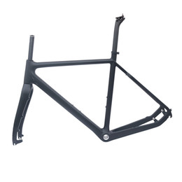 Wholesale Cyclo Cross - Cyclo-Cross carbon bike frame matt black 51 53 55cm BSA road disc bicycle frame