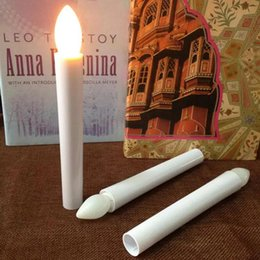 Wholesale Operating Table Lamp - LED Long Pole Candle Light Flashing Candles Light Table Lamp Novelty Candle Battery Operated LED Flickering Dinner Candle Christmas Gift