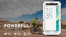 Wholesale Waterproof Case Xperia - For Sony xperia X  XA  XZ  X Performance  Love Mei Powerful Aluminum Case Cover Dirt Shockproof Life Waterproof Case +Tempered Glass