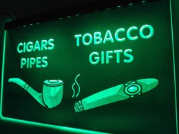 Wholesale Night Shop - LB732- cigars Pipes Tobacco Gifts Shop LED Neon Light Sign