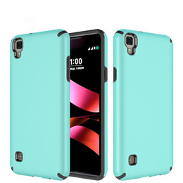 Wholesale Hd Cover Iphone - 2 in 1 Luxury Hybrid TPU PC Case Shockproof Customized Case Cover For LG Tribute HD X style Stylus 2 3 stylus 2 plus LV3 Aristo K8 2017 G6