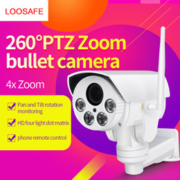 Wholesale Zoom Wifi Security Camera - loosafe HD 960P 4X Zoom PTZ Rotation Surveillance Bullet Camera Intelligent Network Monitor Wireless Wifi Outdoor Security PTZ Camera