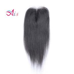 reine brasilianische große tiefe welle Rabatt Promotion Grade 7A Lace Closure 4 * 4 Brasilianisches Haar Natürliche 1B Seidige Glattes Haar Spinnt Top Verschlüsse Färbbare Haarverlängerungen