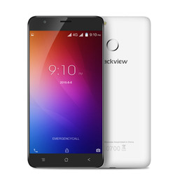 Wholesale E7 Mobile Phone - Blackview E7 MTK6737 Quad Core Cell Phones Android 6.0 HD 5.5 Inch Mobile Phone 1G RAM 16G ROM Fingerprint Smartphone