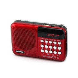 portable charging pack Promo Codes - Wholesale-portable radios elderly singing machine charging MP3 U disk TF card mini speaker N-518 fm readio