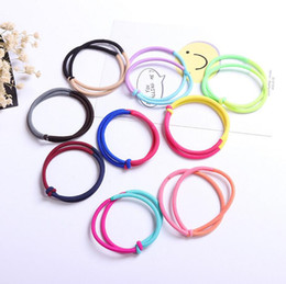 Wholesale Hair Circle Rubber Bands Rope - Hot sale Tie hair rope hair circle mandarin duck buckle knot hair ornaments FQ085 mix order 100 pieces a lot