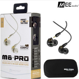 Wholesale White Pro Headphones - 2017 Hot! MEE M6 PRO HiFi In-Ear Earphone Headphones Monitor Earphones Noice-isolating Headsets Universal-Fit Sports Wired Headphones