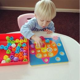 Wholesale Picture Puzzles Kids - 3D Puzzles Toys For Children Composite Picture Puzzle Creative Mosaic Mushroom Nail Kit Educational Toys Button Art Kids Toy