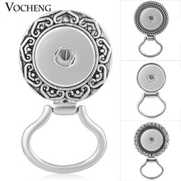 Wholesale Glass Clothes - VOCHENG NOOSA Ginger Snap Jewelry Women Clothes Accessories for Glasses 18mm Interchangeable Jewelry 4 Styles NN-469