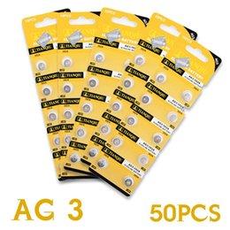 Wholesale Battery Lr41 - Batteries Cell Batteries 50 pcs lot Alkaline Battery 1.55V G3 AG3 LR41 LR736 V3GA SR41 192 392 Button Cell Coin ag3
