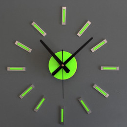 Wholesale Diy 3d Clock - Art Geometric Luxury 3D Wall Clock for Living Room Home Office Silence Movement Geometric Sticking Large DIY simple Rome style Decoration Cl