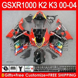 Wholesale K3 Tops - 8Gifts 23Colors For SUZUKI TOP JOMO red GSXR1000 00 01 02 03 04 K2 14NO62 GSXR-1000 GSX R1000 2000 2001 2002 K3 GSXR 1000 2003 2004 Fairing