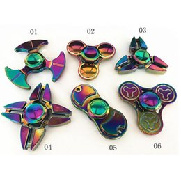 jouet à araignée Promotion Rainbow Color Fidget Spinner Spinners à main Finger EDC Toys 3-4 Mins Spins Spider Giral Spirale EDC Fidget With Box