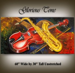 Wholesale Guitar Modern Art Painting - Framed LARGE GUITAR ART PAINTING modern music artwork home decor gift abstract art Oil Painting Qn Canvas.Multi sizes,Free Shipping Ab053