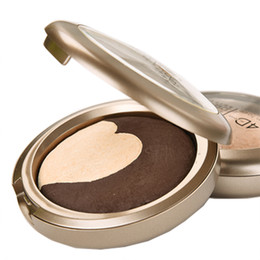 Wholesale Gentle Blue - Wholesale- Brand New Soft Gentle Sweethearts Bronzer Baked Powder Luminous Bronzer Concealer Makeup Contour and Highlight Your Face 3 Color