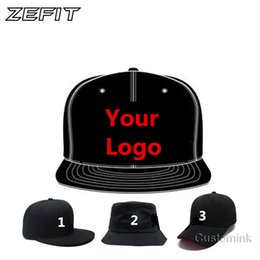 Wholesale 3d Embroidery Hats - Zefit Fast Shipping Wholesale 10PCS LOT Snap Back Adult Kid 3D Embroidery Logo Customize Cap Custom Baseball Hat Custom Snapback Cap