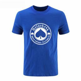 Wholesale Band Motorhead - Motorhead Menv printing T Shirts 2017 Rock Band Born To Lose Live To Win T-shirt Short Sleeve Cotton Punk Men T Shirt DIY-0150D