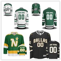 Stitched Custom Dallas Stars Custom mens womens youth Green White Black Personalized  Customized Vintage hockey cheap Jerseys S-4XL discount dallas stars ... b434fd996