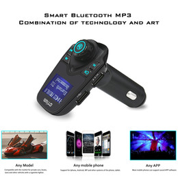 Wholesale Free Mp3 R - T11 Bluetooth Hands-free Car Kit With USB Port Charger And FM Transmitter Support TF Card MP3 Music PlayerT10 X5 G7 Car Kit