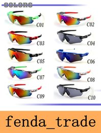 Wholesale Pc Men - Cylcing Fishing Sunglasses 10 colors 9208 New Fashion Design RADAR EV For Men or Women sport eyewear oculos de sol UV400 AAA+ quality MOQ=10