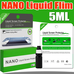 Wholesale Liquid Film - Universal 5ML NANO Technology Liquid Screen Protector 3D Glass Invisible Tempered Glass Full Cover Guard Film For iPhone X 8 iPad Samsung