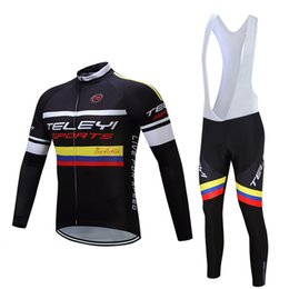 Wholesale China Mtb - 2017 Cycling jersey long sleeve+Cycling bib long pants set pro team bib long cycling kits mtb bike sportswear Factory direct sales China