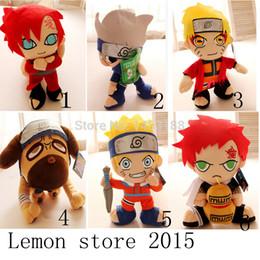 Wholesale Japanese Toys Sale - Wholesale-2015NEW HOT SALE Japanese Anime Cartoon Naruto plush Doll 33cm Uzumaki Kakashi Shippuuden Sasuke dog plush toys