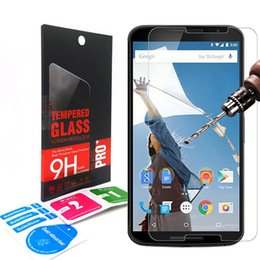 Wholesale Lg Nexus Screen - 0.33mm 9H 2.5D Premium Tempered Glass screen Protector For LG Google 5X 6P Nexus 4 Nexus 5 Nexus 6 Retail BOX DHL